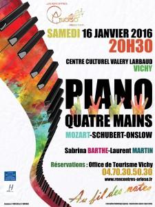 Concert piano 4 mains à vichy