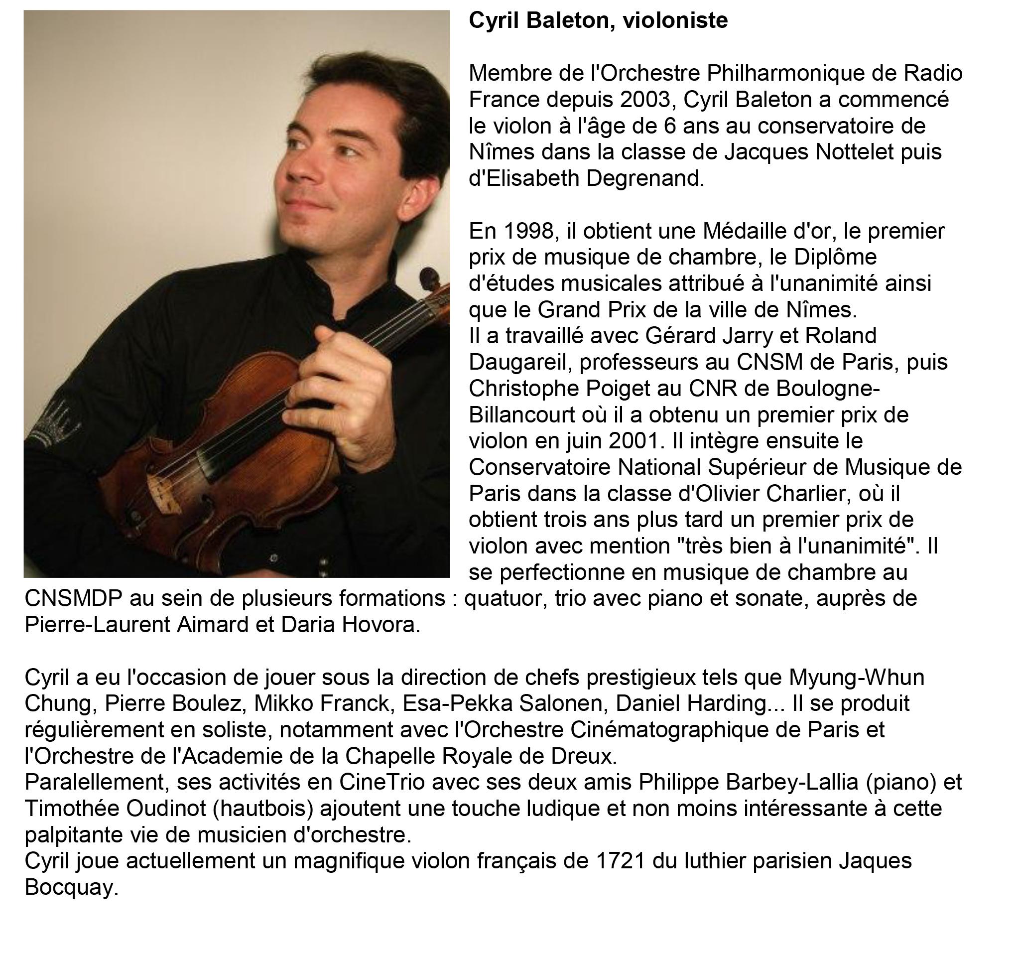 Cyril Baleton - violoniste