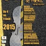 Affiche festival Nuits Classiques de Thiers 2015