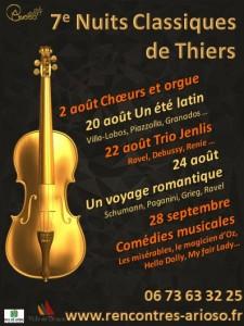 7ème édition des Nuits classiques de Thiers